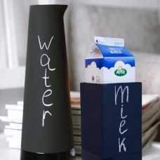 "Magisso ""Cooling"" ceramic carafe and milk carton holder."