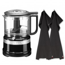 Kitchen Aid food-processor and Global dish cloths
