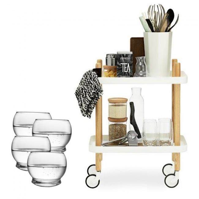 Normann Copenhagen Block Table and glasses
