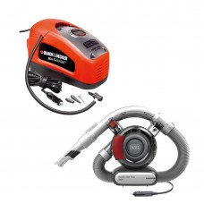 Black & Decker car vacuum cleaner og air compressor