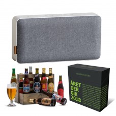 Moveit bluetooth speaker, værktøjskasse med danske øl & bezzerwizzer