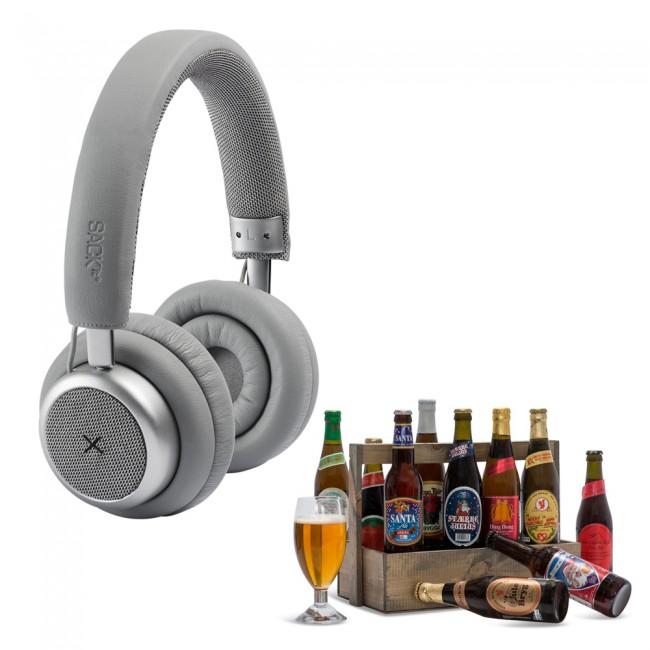 Touchit headphones & toolbox with danish beers