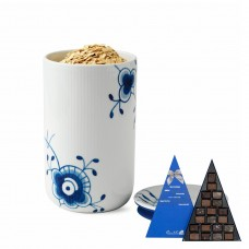 Royal Copenhagen Mega Mussel jar and chocolates