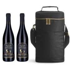 Sagaform Cooler bag & 2 bottles of wine